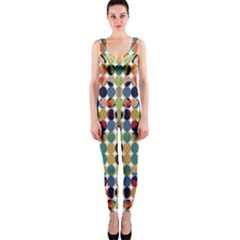 Retro Pattern Abstract Onepiece Catsuit by Amaryn4rt