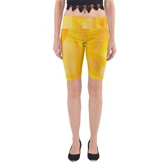 Yellow Pattern Painting Yoga Cropped Leggings by Amaryn4rt