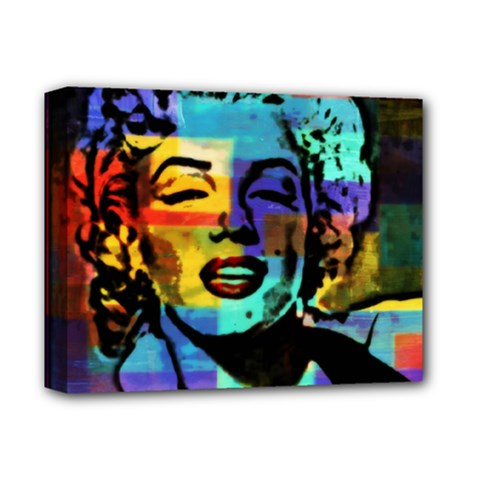 marilyn Iconic   Deluxe Canvas 14  X 11  (framed) by wbk1