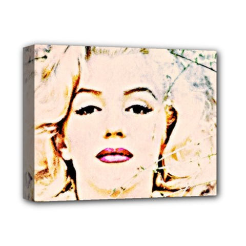 marilyn  Pastel Deluxe Canvas 14  X 11  (framed) by wbk1