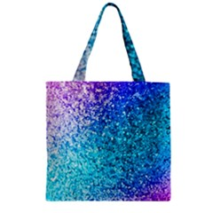 Rainbow Sparkles Zipper Grocery Tote Bag by Brittlevirginclothing
