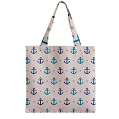 Sailor Anchor Grocery Tote Bag by Brittlevirginclothing