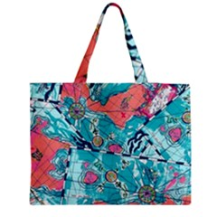 Map Medium Zipper Tote Bag by Brittlevirginclothing