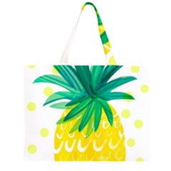 Cute Pineapple Zipper Large Tote Bag by Brittlevirginclothing