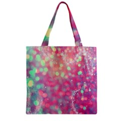 Fantasy Sparkle Zipper Grocery Tote Bag by Brittlevirginclothing