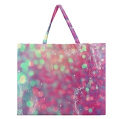 Fantasy Sparkle Zipper Large Tote Bag by Brittlevirginclothing