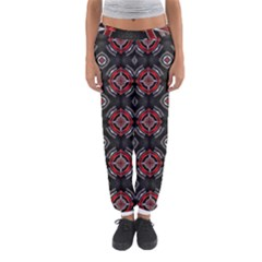 Abstract Black And Red Pattern Women s Jogger Sweatpants by Amaryn4rt