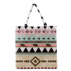 Colorful Bohemian Grocery Tote Bag by Brittlevirginclothing