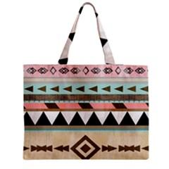 Colorful Bohemian Medium Zipper Tote Bag by Brittlevirginclothing