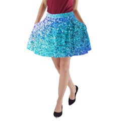 Rainbow Sparkles A Line Pocket Skirt by Brittlevirginclothing
