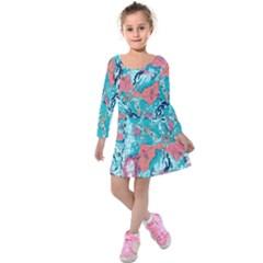 Map Kids  Long Sleeve Velvet Dress by Brittlevirginclothing