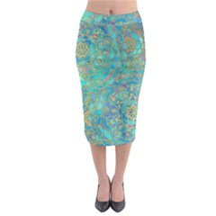 Celtic Midi Pencil Skirt by Brittlevirginclothing