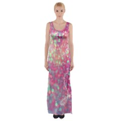 Colorful Sparkles Maxi Thigh Split Dress by Brittlevirginclothing