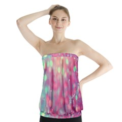 Colorful Sparkles Strapless Top by Brittlevirginclothing