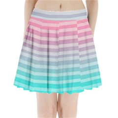 Colorful Vertical Lines Pleated Mini Skirt by Brittlevirginclothing