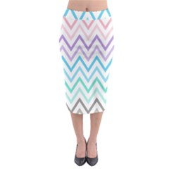 Colorful Wavy Lines Midi Pencil Skirt by Brittlevirginclothing