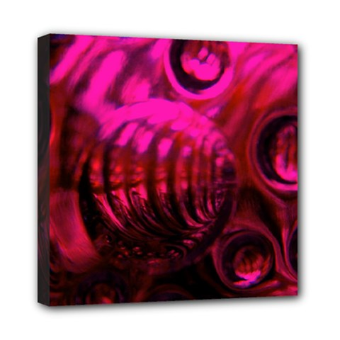 Abstract Bubble Background Mini Canvas 8  X 8  by Amaryn4rt