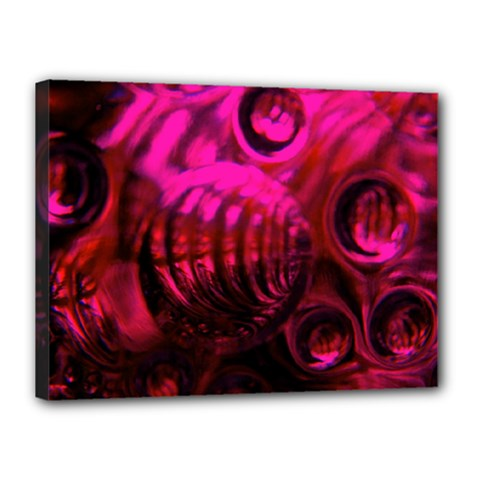 Abstract Bubble Background Canvas 16  X 12  by Amaryn4rt