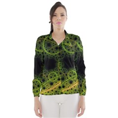 Abstract Circles Yellow Black Wind Breaker (women) by Amaryn4rt