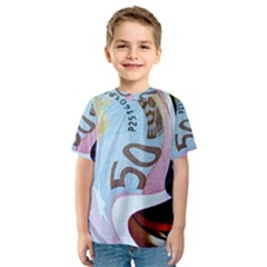 Abstract Currency Background Kids  Sport Mesh Tee by Amaryn4rt