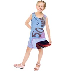 Abstract Currency Background Kids  Tunic Dress by Amaryn4rt