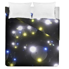 Abstract Dark Spheres Psy Trance Duvet Cover Double Side (Queen Size) by Amaryn4rt