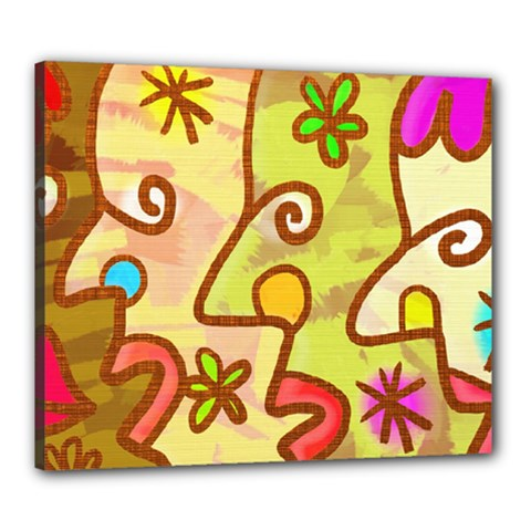 Abstract Faces Abstract Spiral Canvas 24  X 20  by Amaryn4rt