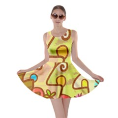Abstract Faces Abstract Spiral Skater Dress by Amaryn4rt