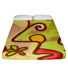Abstract Faces Abstract Spiral Fitted Sheet (king Size) by Amaryn4rt