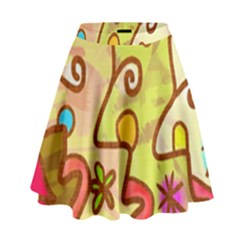 Abstract Faces Abstract Spiral High Waist Skirt by Amaryn4rt