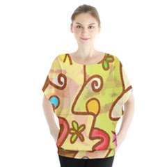 Abstract Faces Abstract Spiral Blouse by Amaryn4rt