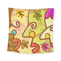 Abstract Faces Abstract Spiral Square Tapestry (Small)