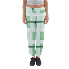 Abstract Green Squares Background Women s Jogger Sweatpants by Amaryn4rt