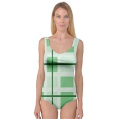 Abstract Green Squares Background Princess Tank Leotard  by Amaryn4rt
