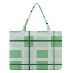 Abstract Green Squares Background Medium Tote Bag