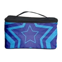Abstract Starburst Blue Star Cosmetic Storage Case by Amaryn4rt