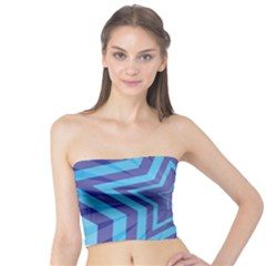 Abstract Starburst Blue Star Tube Top by Amaryn4rt