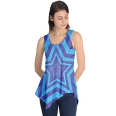 Abstract Starburst Blue Star Sleeveless Tunic by Amaryn4rt