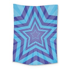 Abstract Starburst Blue Star Medium Tapestry by Amaryn4rt