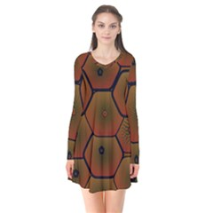 Art Psychedelic Pattern Flare Dress