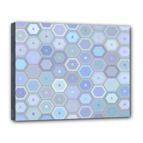 Bee Hive Background Canvas 14  X 11  by Amaryn4rt