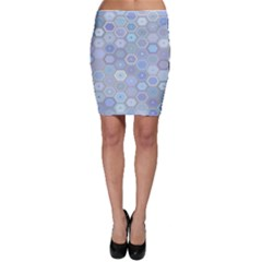 Bee Hive Background Bodycon Skirt by Amaryn4rt