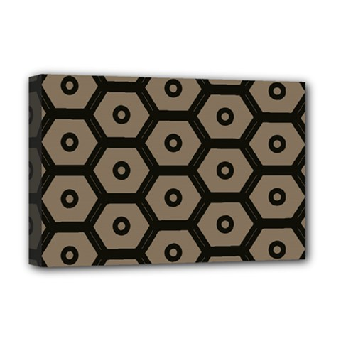 Black Bee Hive Texture Deluxe Canvas 18  X 12   by Amaryn4rt
