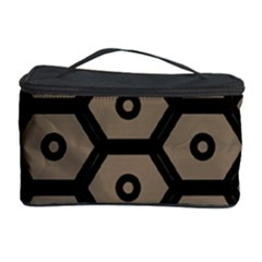 Black Bee Hive Texture Cosmetic Storage Case by Amaryn4rt