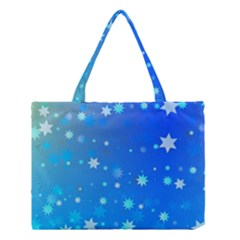 Blue Hot Pattern Blue Star Background Medium Tote Bag by Amaryn4rt