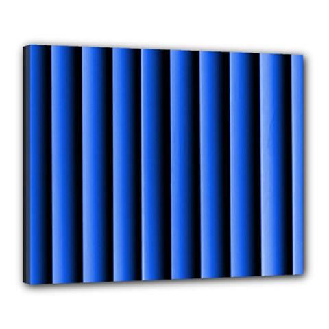 Blue Lines Background Canvas 20  X 16