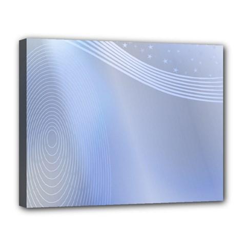 Blue Star Background Canvas 14  X 11  by Amaryn4rt