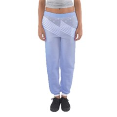 Blue Star Background Women s Jogger Sweatpants by Amaryn4rt