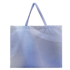 Blue Star Background Zipper Large Tote Bag by Amaryn4rt