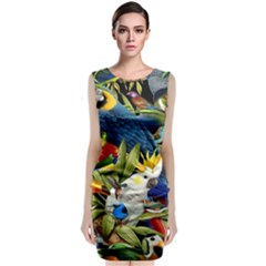 Animals Bird Sleeveless Velvet Midi Dress by Jojostore